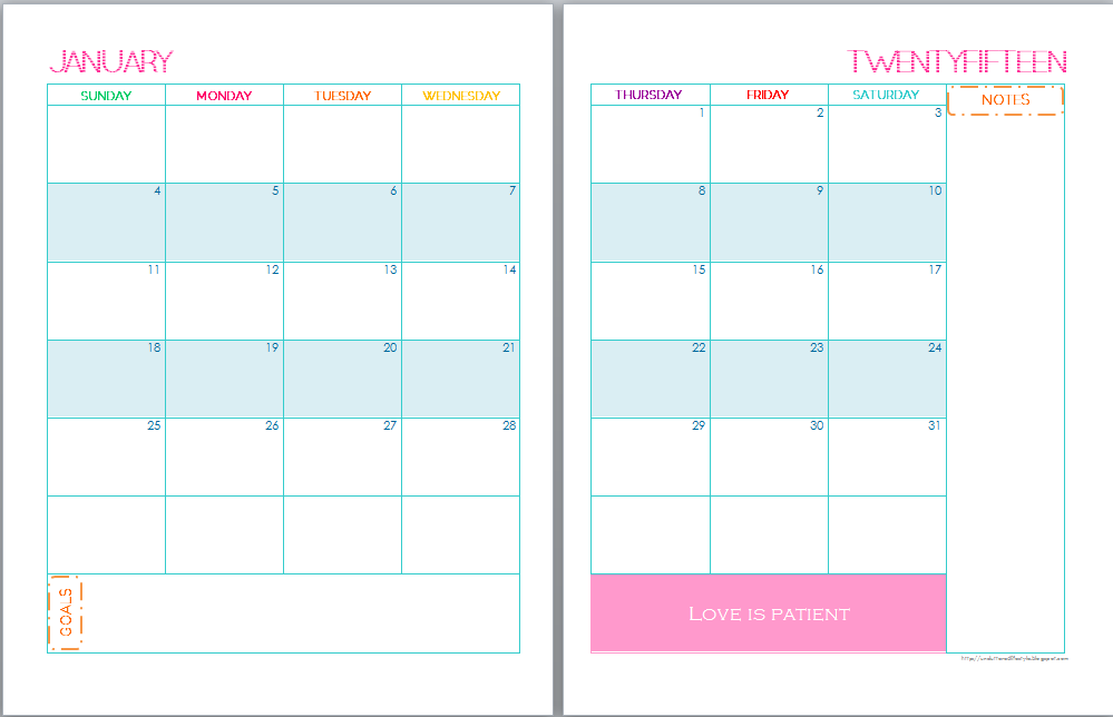2015 Printable Calendar Monthly Templates Free/page/2 | New Calendar ...