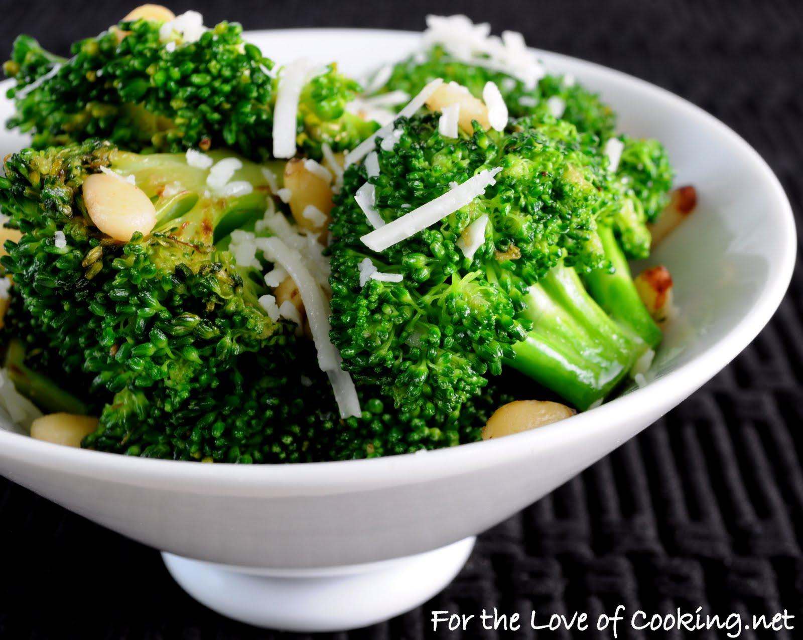 Broccoli with Garlic, Pine Nuts, and Asiago Cheese | For the Love of ...