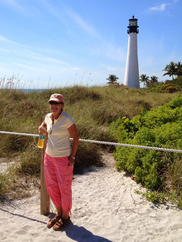 Nan with the Cape Florida Lighthouse