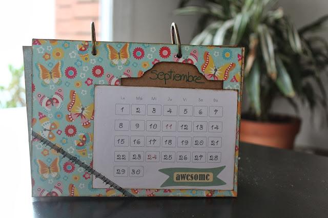 Calendario scrapbooking septiembre