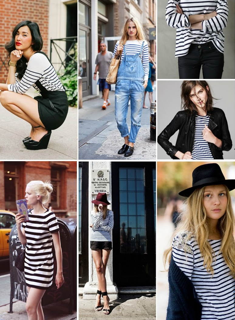 black and white stripes by post and pin