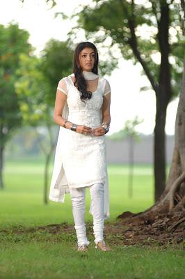 kajal agarwal in white salwar glamour  images