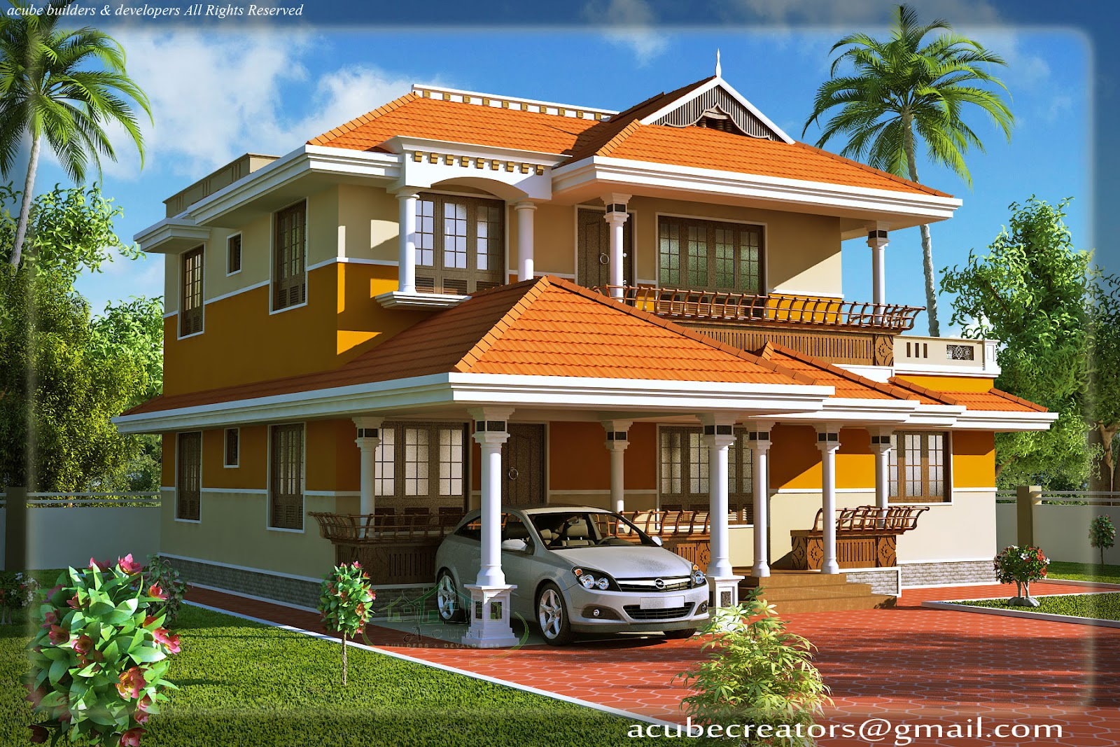 Kerala style duplex house 1900 sq ft plan 107 for 1900 architecture houses