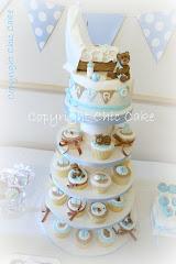 Cupcake stand - Torre di cupcake BATTESIMO
