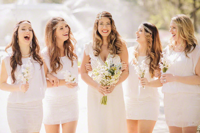 bride and bridesmaids at a destination wedding in savannah, georgia, top destination places to get married