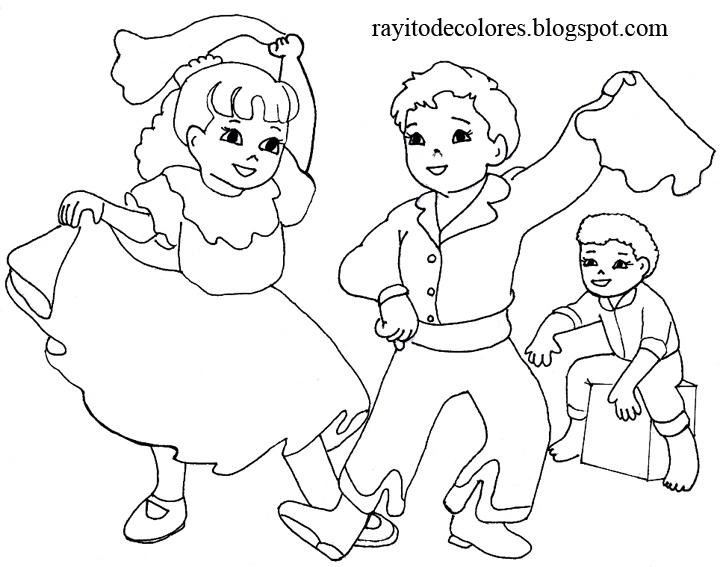 La danza de la marinera para colorear - Imagui