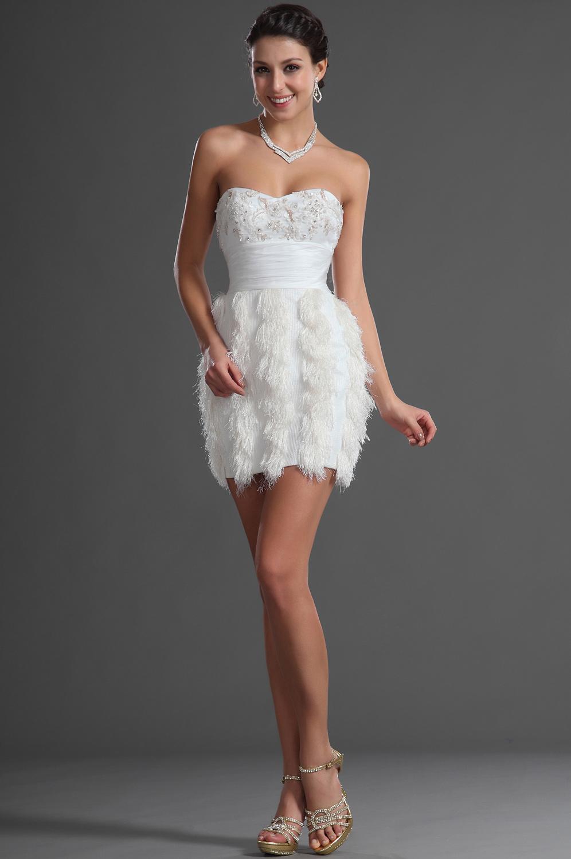 mode fashion et tendance robe de soir e blanche courte bustier. Black Bedroom Furniture Sets. Home Design Ideas