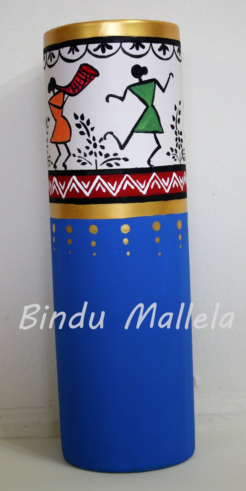 Crazy for colors contemporary warli on a vase contemporary warli on a vase reviewsmspy