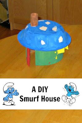 Easy DIY Smurf House
