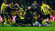 Borussia Dortmund players celebrates victory (bdc)