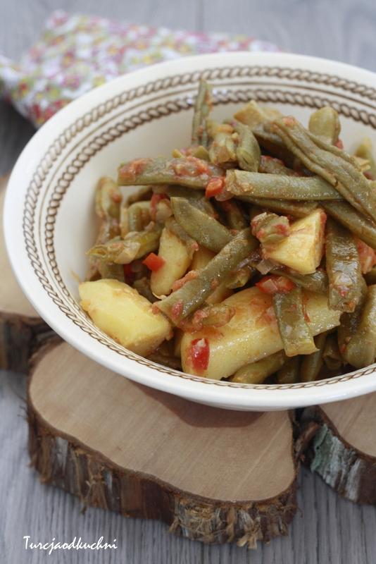 Zielona fasolka z ziemniakami