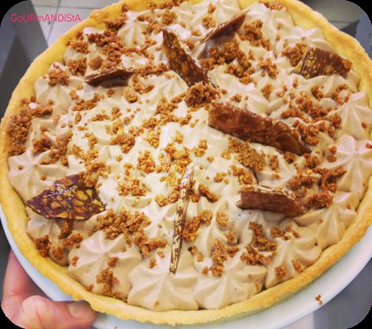 image-tarte-ganache-chocolat-caramel-praline-cacahuete-maison