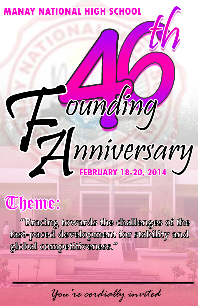46th Founding Anniversary program cover design adobe photoshop