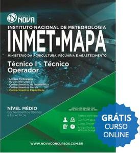 Apostila Concurso INMET-MAPA Técnico I - Técnico Operador 2015