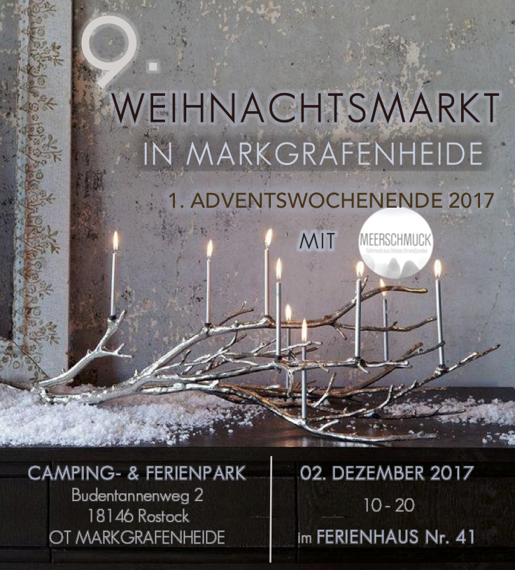 Weihnachtsmarkt • Ferienpark Markgrafenheide • 02.12. • 10 - 20