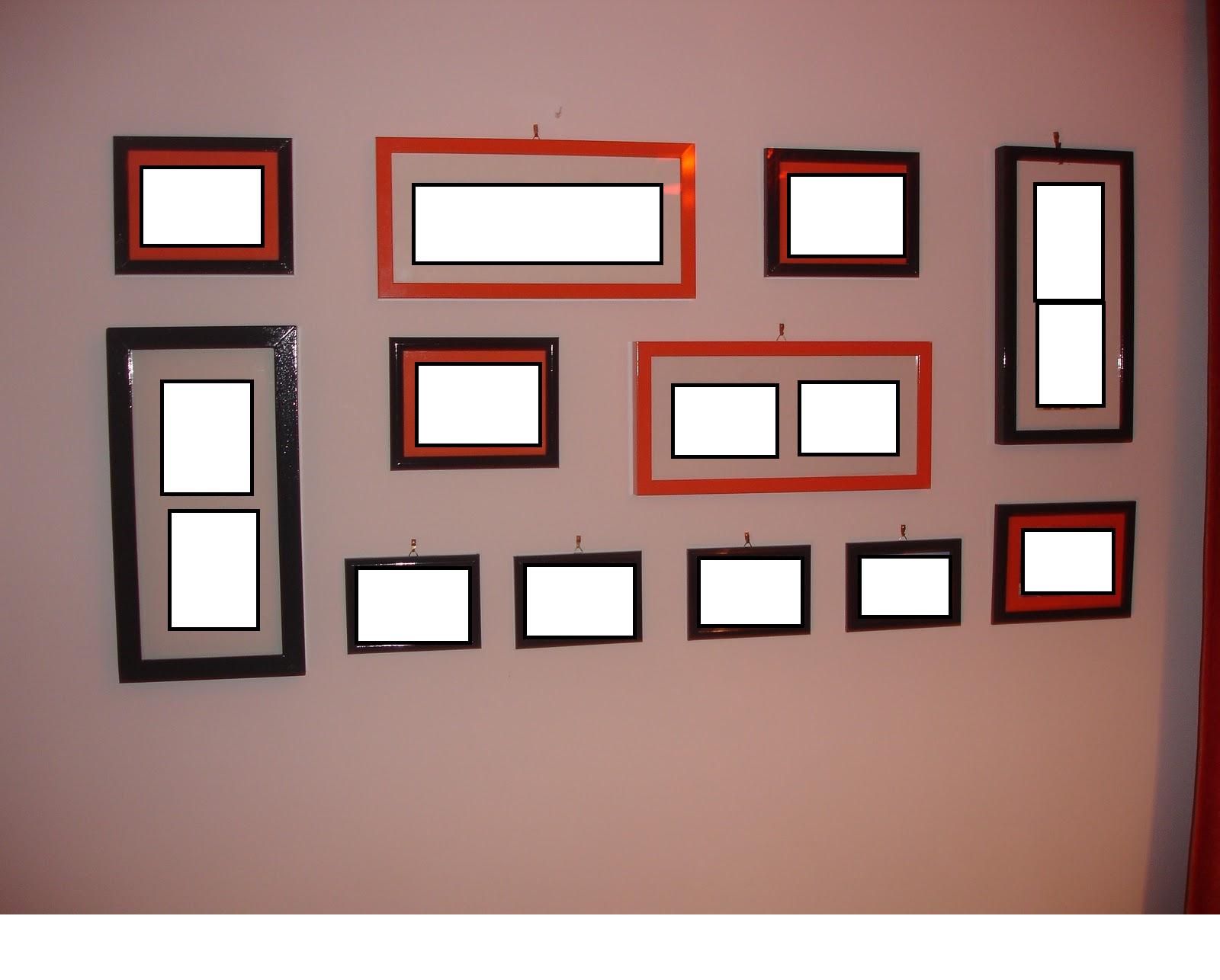 Coisas l de casa ideia para decorar paredes - Molduras para paredes ...