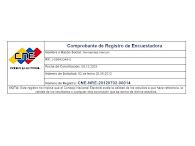 Sistema Automatizado de Registro de Encuestadoras (SARE)