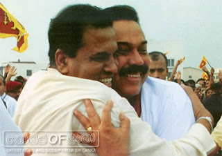 President Maithri meets Mahinda at last night