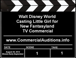 Disney TV Commercial Casting Little Girl