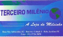 Terceiro Milênio - Rua - São Sebastião, Nº 02 Cohab I - FONE: 3726-3058