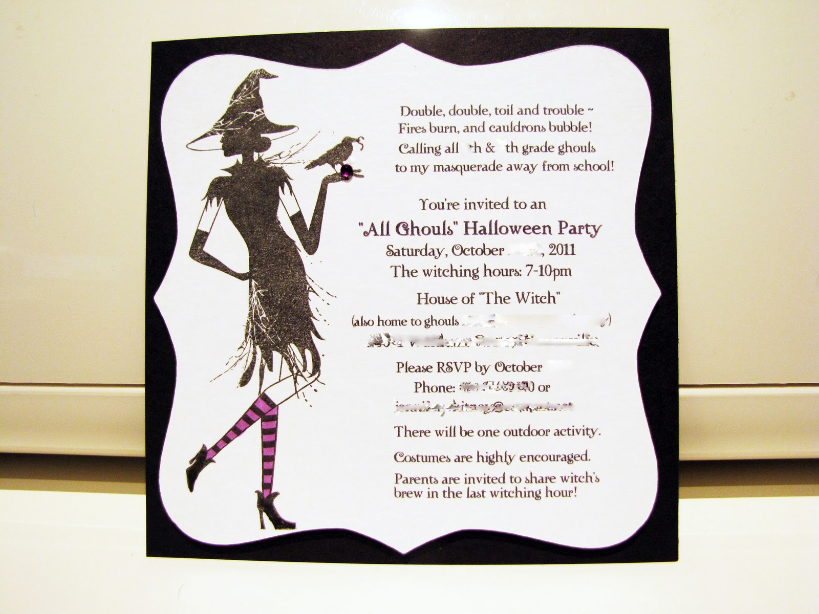 Jen\'s Happy Place: Halloween Party 2011 - The Invitation