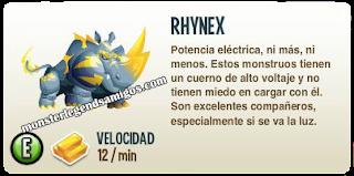imagen de la descripcion del monstruo rhynex