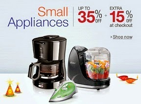 Great Discount Deal: Upto 35% Off + Extra 15% Off on Philips, Bajaj, Prestige, Inalsa, Orpat Small Home / Kitchen Appliances @ Amazon