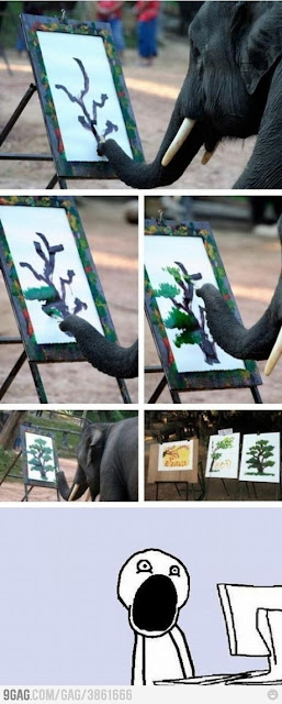 Elephant Knows How to Paint