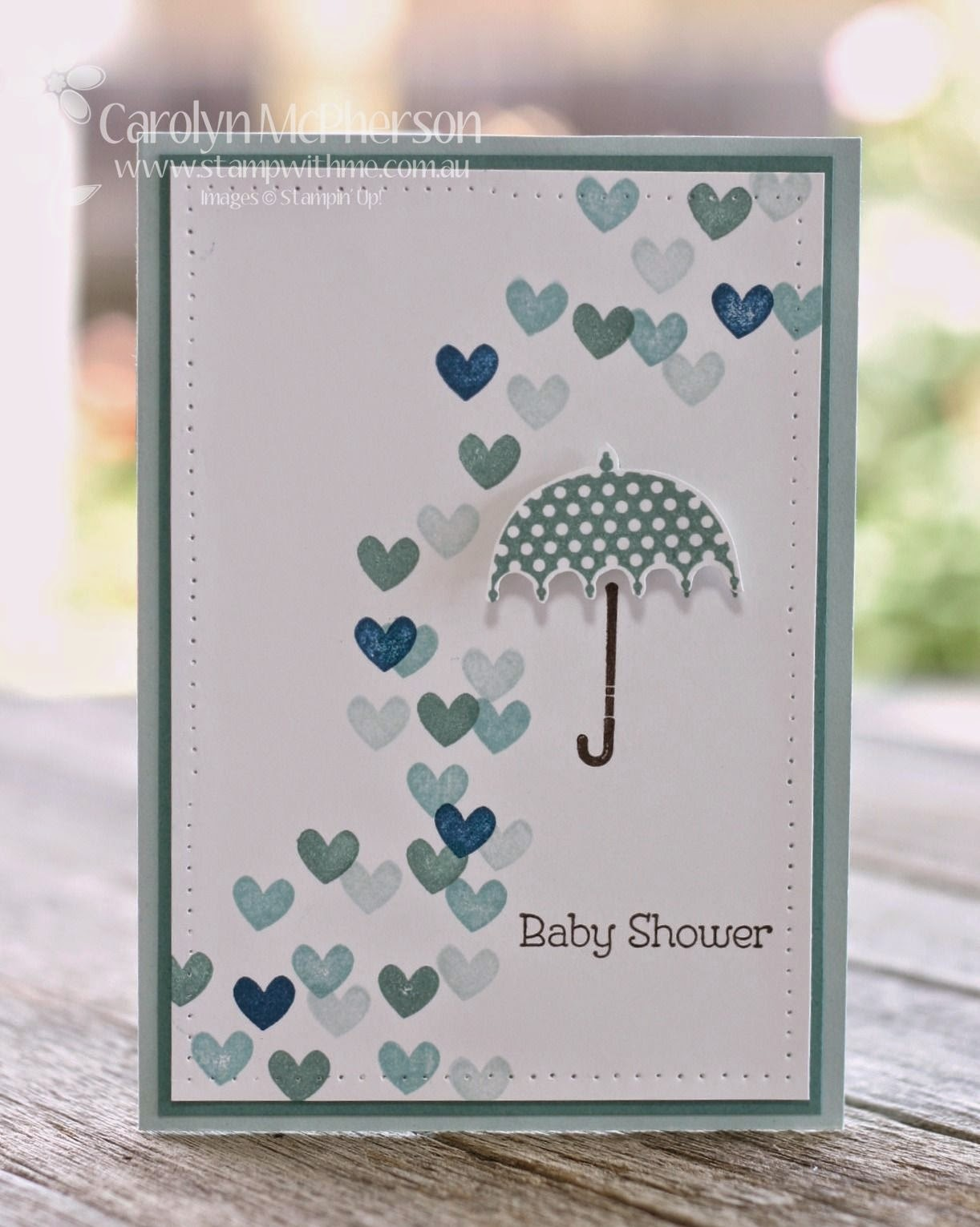 I Used A Long Retired Stamp Set: Rain Or Shine Which Had Gorgeous Little  Umbrellas And Shower Sentiments. In This Case   Baby Shower!