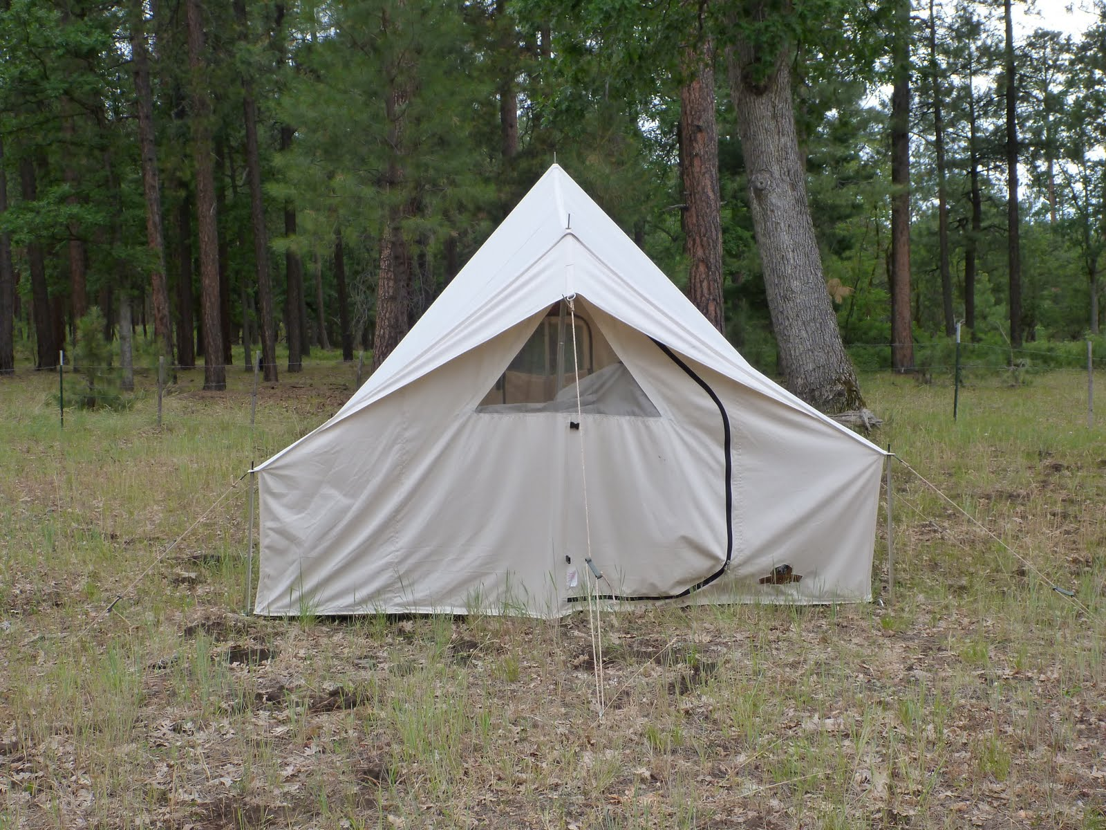 ... or two cots and the stove by placing a cot along the back wall. Iu0027m also including a couple of pictures of the (messy) inside of the tent. & Reliable Tent Co. - Teton Tent