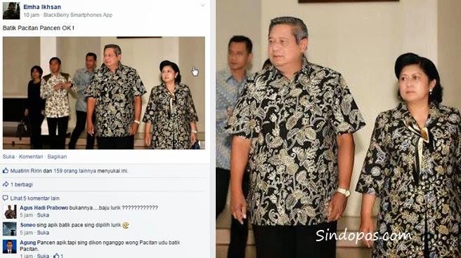 SBY dan Ibu Ani Yang Menggunakan Batik Pacitan Bukan Batik Lurik