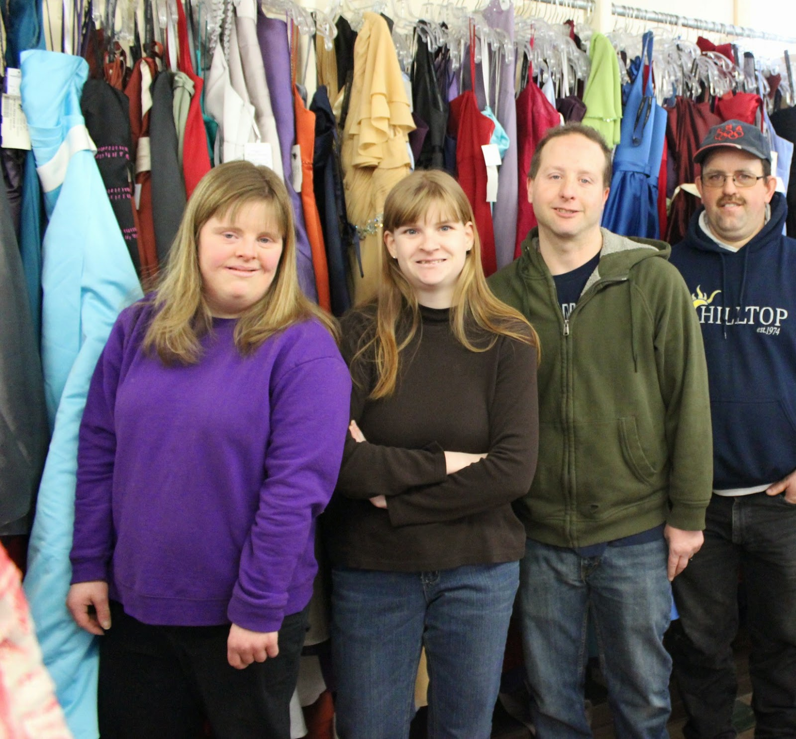 Finders Keepers workers Justine Deluca, Morgan Snyder, Keith Conklin, and Barney Pedraza