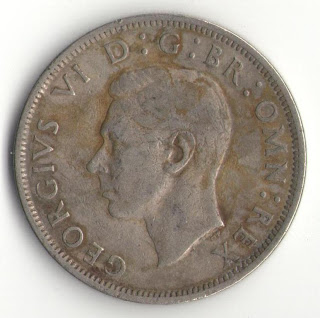 england half crown 1950 georgevi