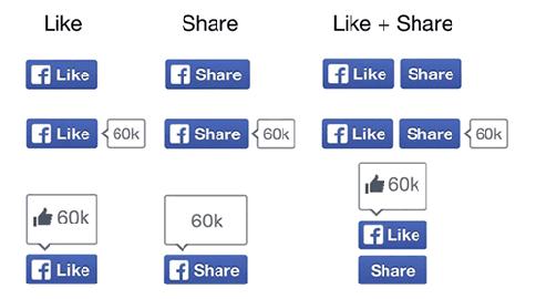 Tampilan Baru Tombol Like dan Share Facebook
