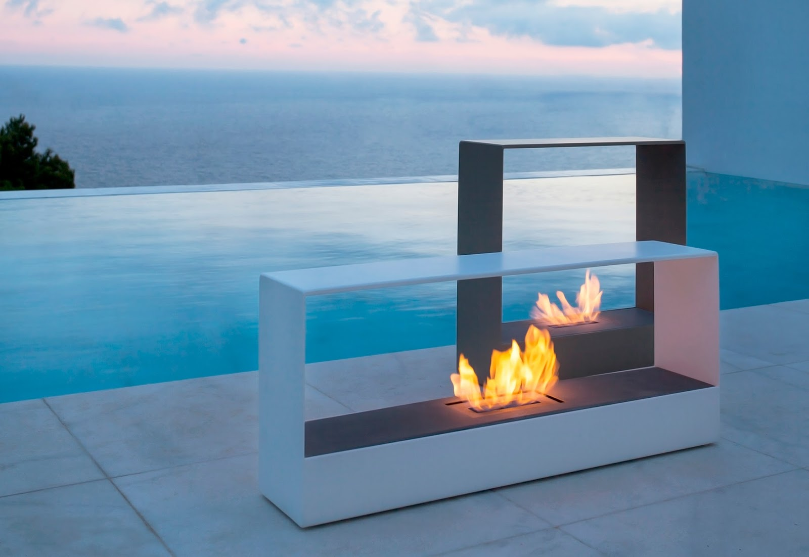 Modern Interior Design Llajar Modern Outdoor Fireplaces