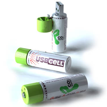 batteries that charge via a USB stick