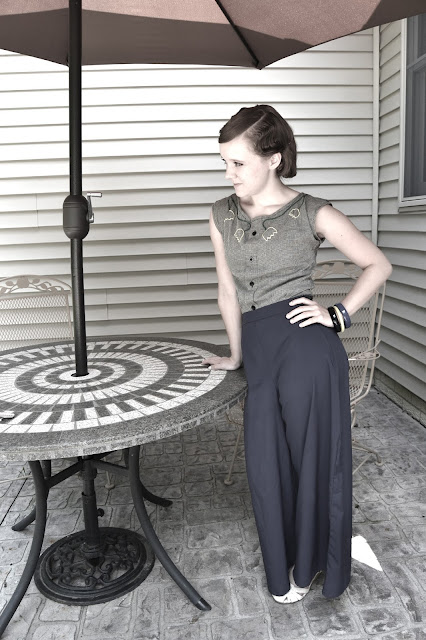 Flashback Summer: 1930s Palazzo Pants and Fingerwaves