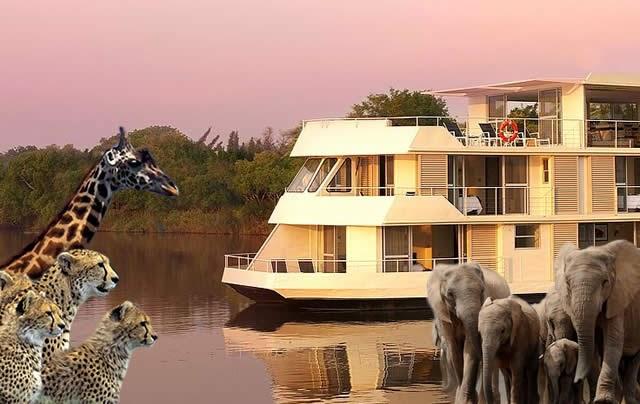 Zambezi Queen - Safári de Luxo - Luxury Safari in Africa: Zimbabwe, Zambia, Botswana e Namibia