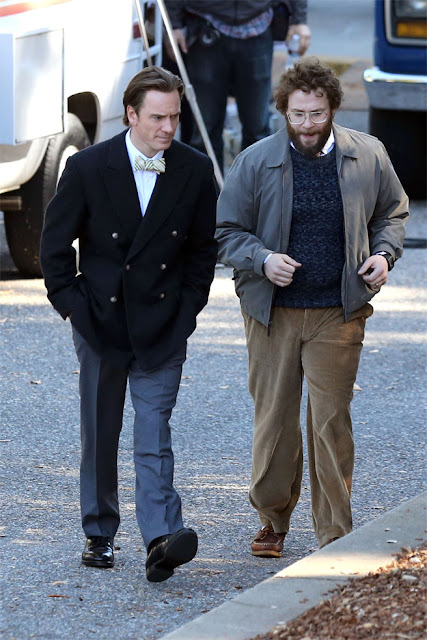 Michael Fassbender, Seth Rogen in Steve Jobs, Directed by Danny Boyle