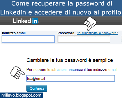 recupero password linkedin