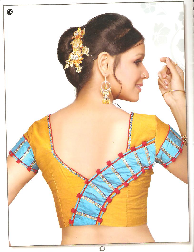 latest blouse back neck trend dress 2013