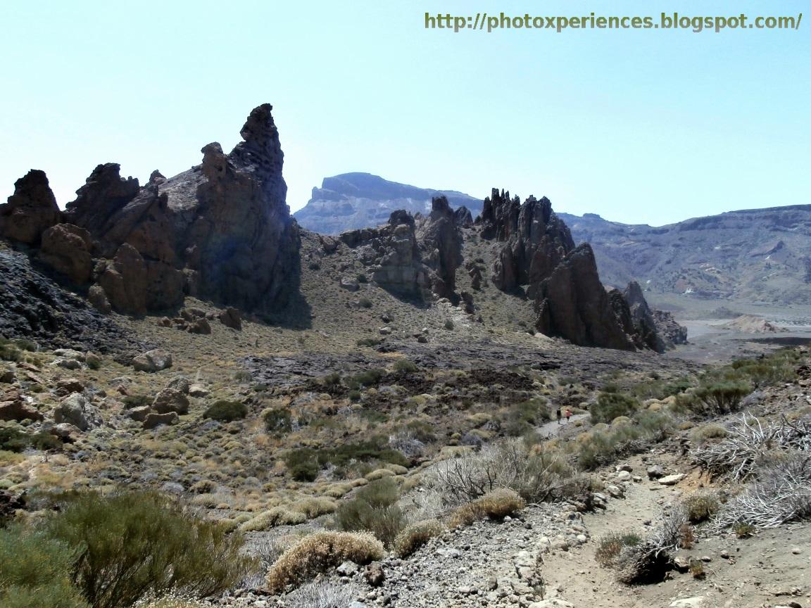 Los Roques de García desde el llano de Ucanca
