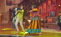 Alia Bhatt & Randeep Hooda on the sets of Comedy Nights with Kapil