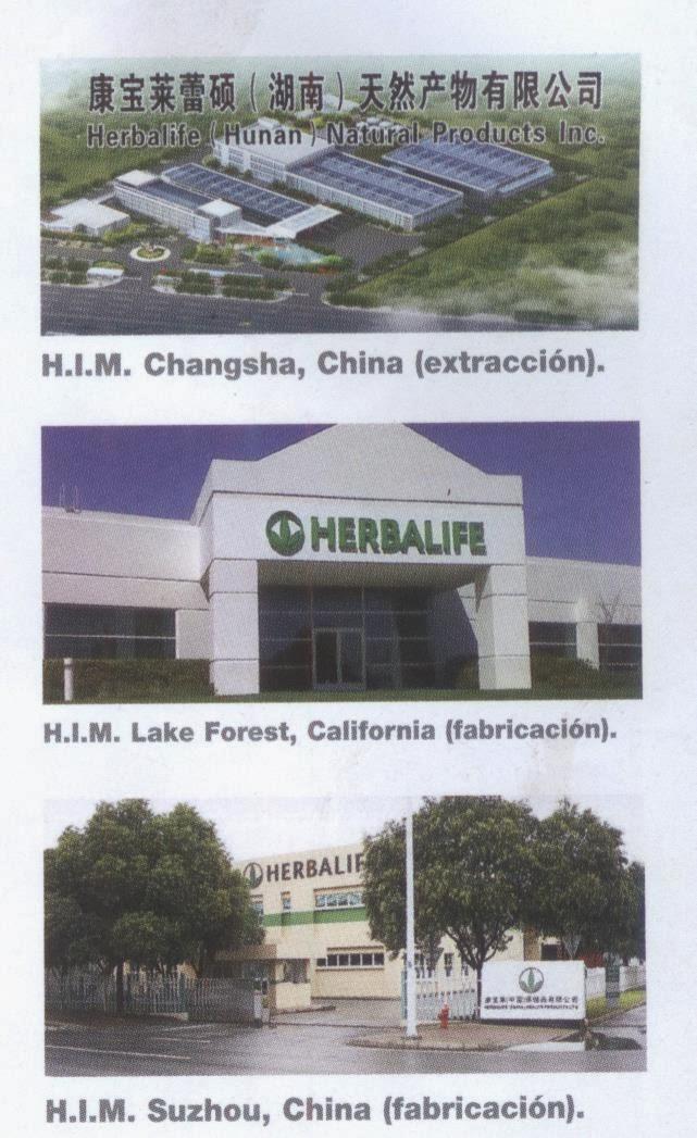Fabricación y Producción Herbalife®