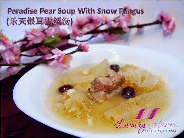 chinese new year snow fungus pear soup recipe
