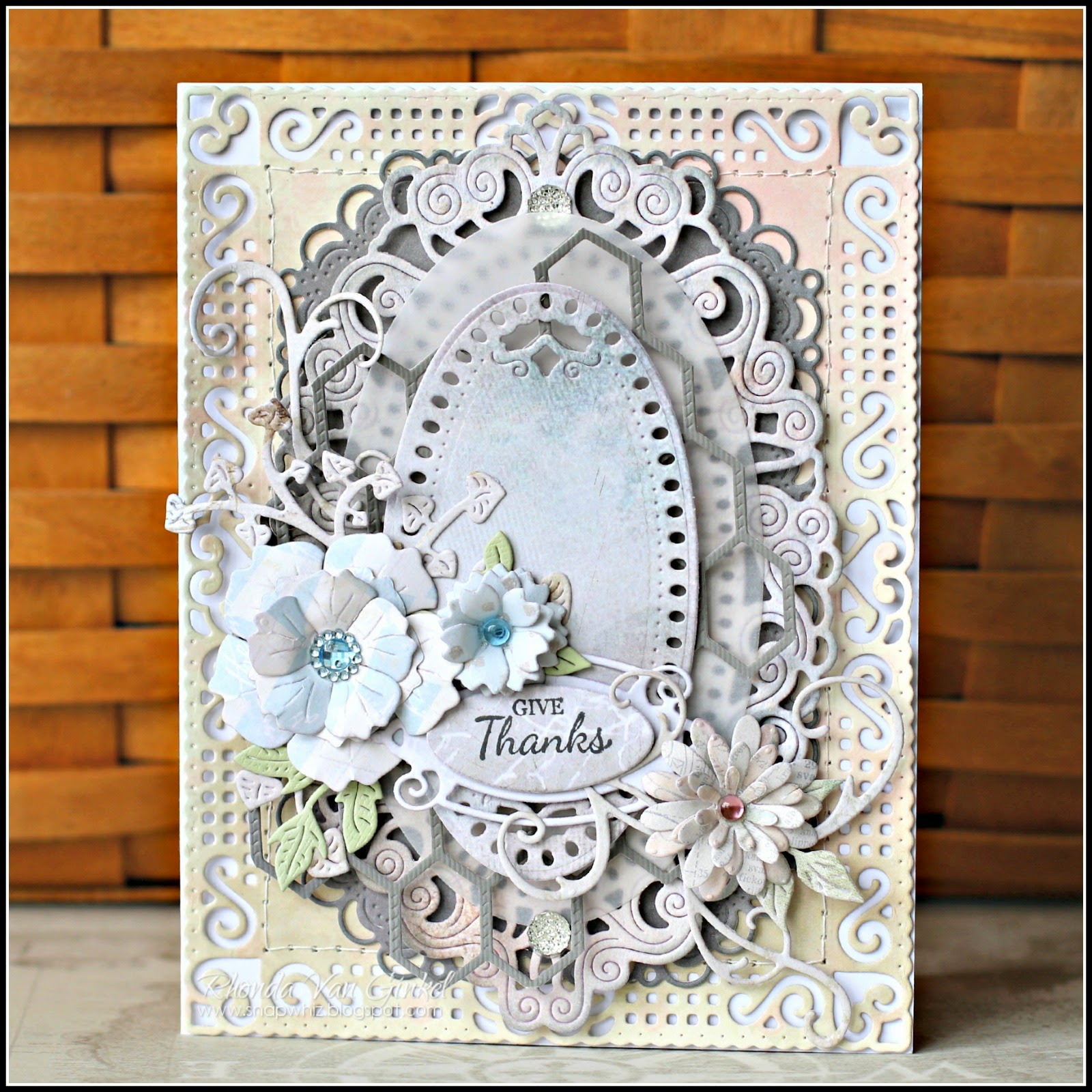 Give Thanks card featuring Cheery Lynn Designs Dies by Rhonda Van Ginkel