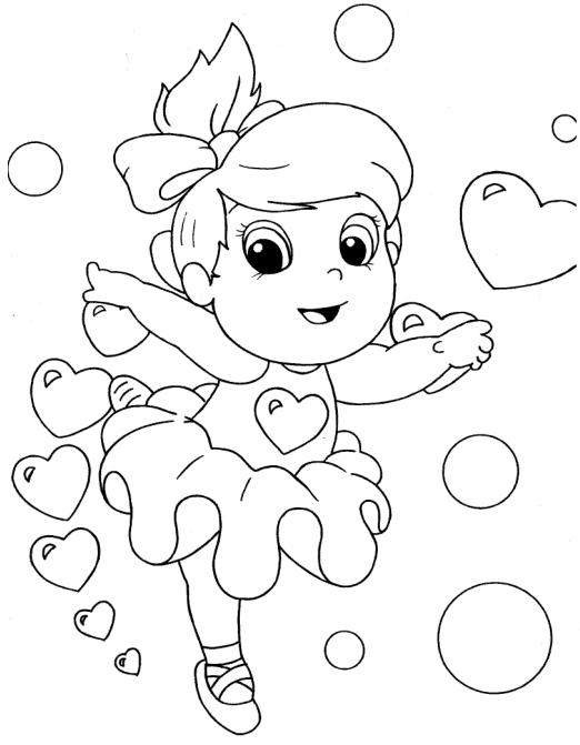 desenho para crianças menina para colorir e pintar