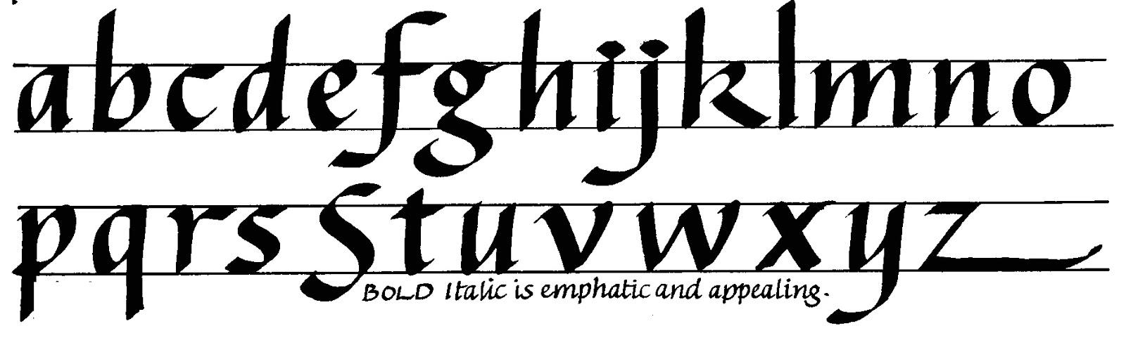 Margaret Shepherd Calligraphy Blog 189 Bold Italic