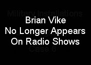 BRIAN VIKE NO LONGER APPEARS ON RADIO SHOWS.