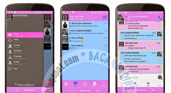 download app aBBM Mod Tema tampilan Pink Terbaru 2.7.0.23